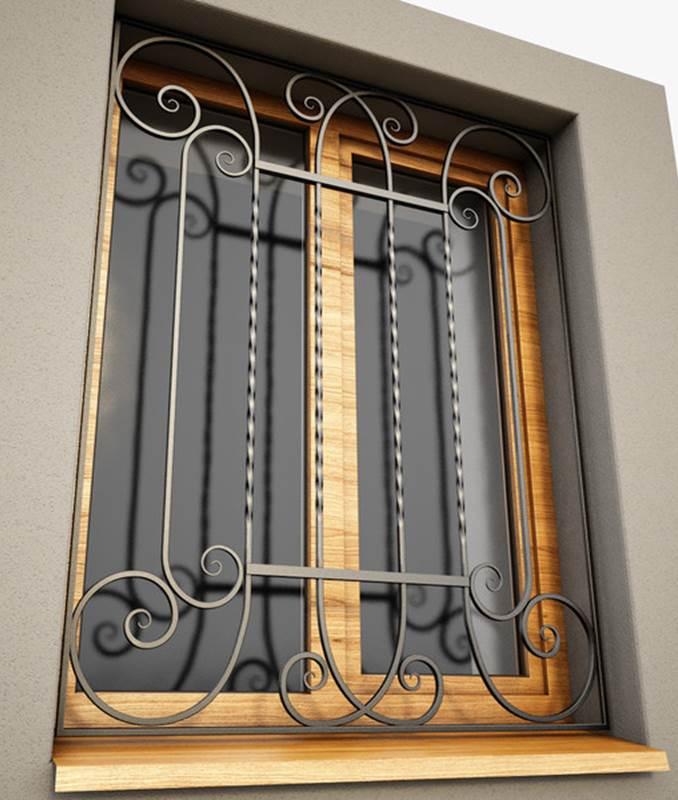 установка металлических решеток на двери чехов
